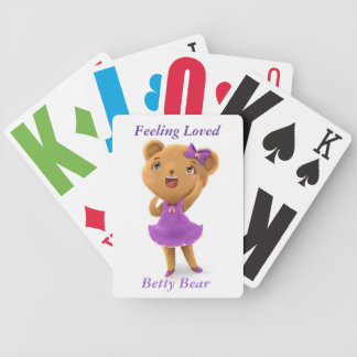 Feeling Loved, A Ted E. Bear Story Betty Bear Deck Bicycle Playing Cards