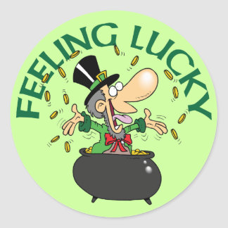 Feeling Lucky Classic Round Sticker
