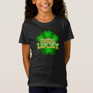 Feeling Lucky Girls dark T-shirt