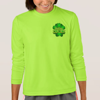 Feeling Lucky Girls green long sleeve T-shirt