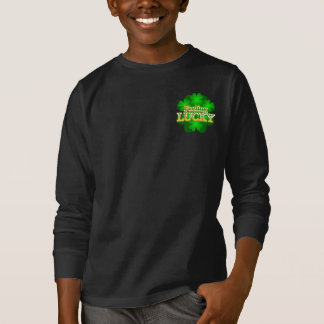 Feeling Lucky Kids dark long sleeve T-shirt