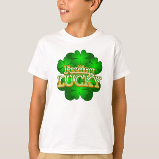 Feeling Lucky Kids white T-shirt