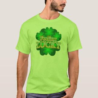 Feeling Lucky Men's light green T-Shirt