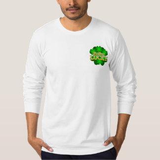Feeling Lucky Men's white Long Sleeve T-Shirt