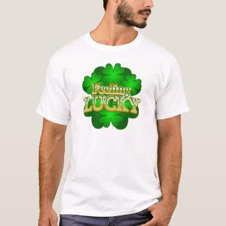 Feeling Lucky Men's white T-Shirt