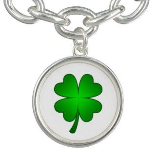 Feeling Lucky shamrock Charm Bracelet