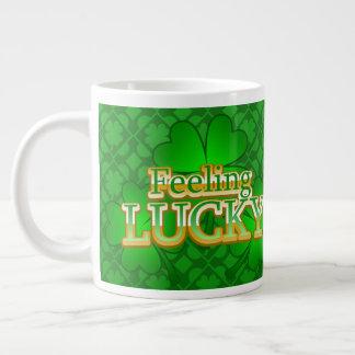 Feeling Lucky shamrock Jumbo Mug style 1