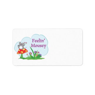 feeling mousey adorable mouse in garden label