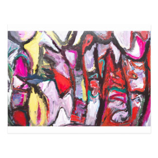 Feeling Pink rather than Red (abstract  painting) Postcard