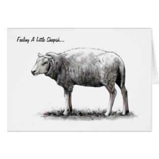 Feeling Sheepish: Sheep in Pencil: Apology Card