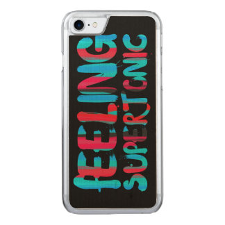 Feeling supertonic music theory pun on black carved iPhone 7 case