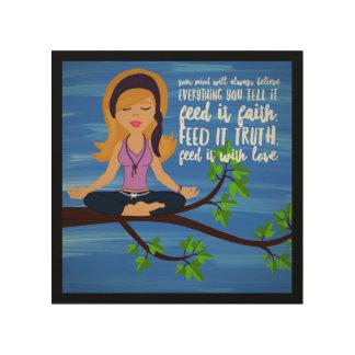 """Feeling Zen 8""""x8"""" Wood Wall Art"""