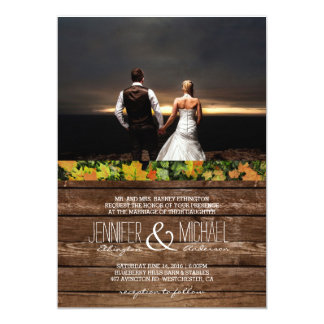 feelings love in sunset.couple /Wedding Invitation