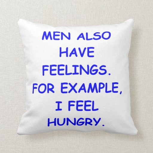 feelings pillow