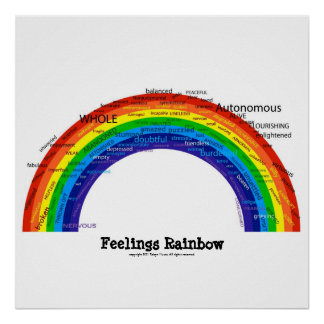Feelings Rainbow Poster