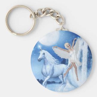 Féerie Asparas de ciel et licorne Porte-clés