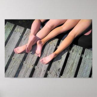 Feet on Dock Poster