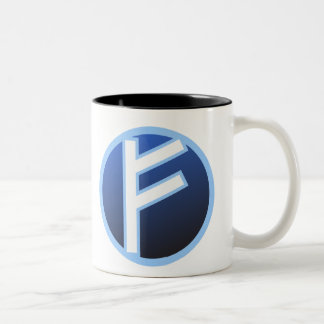 Fehu Feoh Rune Two-Tone Coffee Mug