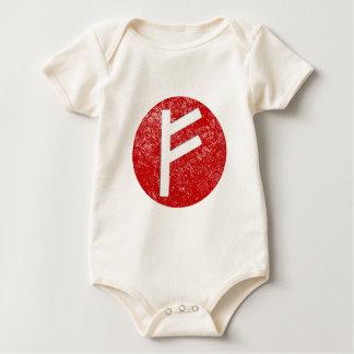 Fehu Rune Baby Bodysuit