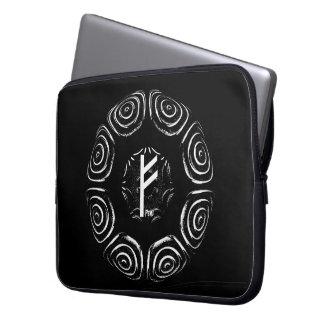 ☼Fehu - Rune of Luck & Prosperity☼ Laptop Sleeve