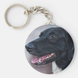 Feist Labrador Basic Round Button Keychain