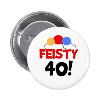 Feisty 40 2 inch round button