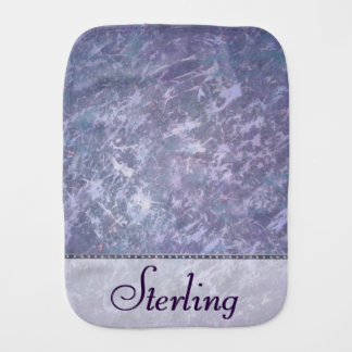 Feisty Baby | Custom Lavender Purple Splatter | Burp Cloth