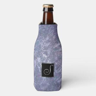 Feisty Bar   Monogram Lavender Purple Splatter   Bottle Cooler