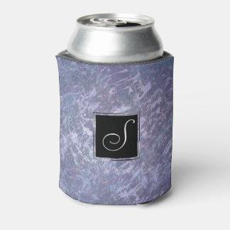 Feisty Bar   Monogram Lavender Purple Splatter   Can Cooler