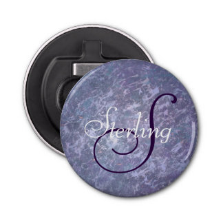 Feisty Bar | Name Chic Lavender Purple Splatter | Bottle Opener