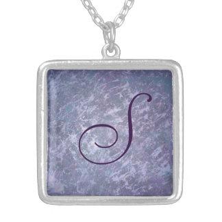 Feisty Bling | Custom Lavender Purple Splatter | Silver Plated Necklace