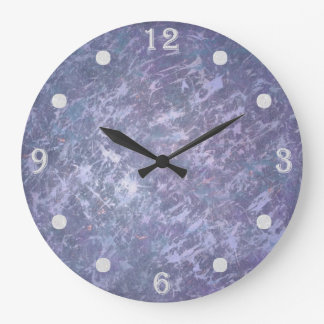 Feisty Decor | Lavender Purple Abstract Splatter | Large Clock