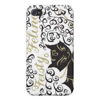 Feisty Feline iPhone 4 Cases