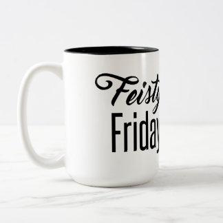 Feisty Friday Two-Tone Coffee Mug