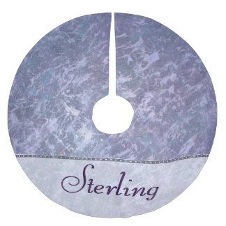 Feisty Holiday   Custom Lavender Purple Splatter   Brushed Polyester Tree Skirt