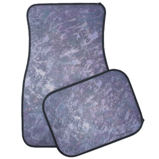 Feisty Metallic Purple Abstract Splatter Car Liners