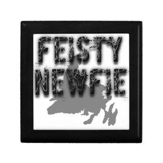Feisty Newfie Funny Newfoundland Keepsake Boxes