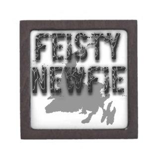 Feisty Newfie Funny Newfoundland Premium Jewelry Box