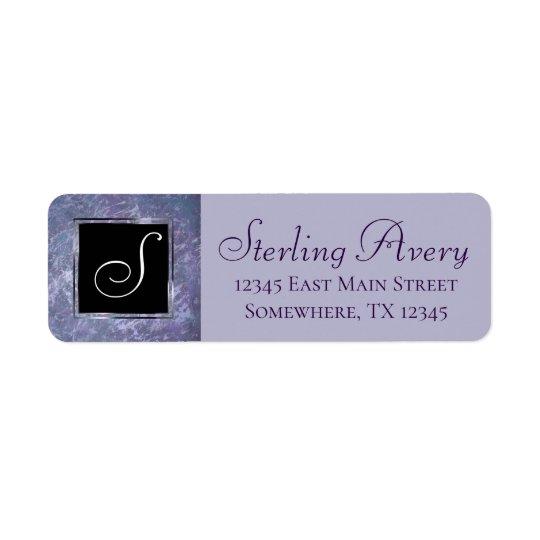 Feisty Office | Monogram Lilac Purple Splatter |