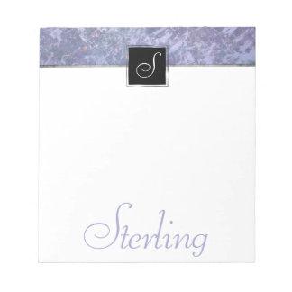 Feisty Office   Name Lavender Purple Splatter   Notepad