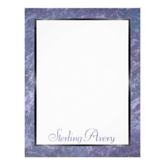 Feisty Office | Name Lilac Lavender Purple | Chic Letterhead