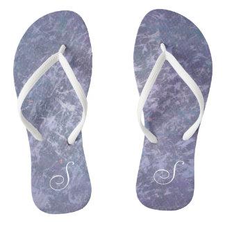 Feisty Style | Custom Lavender Purple Splatter | Flip Flops