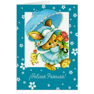 Felices Pascuas.Spanish Happy Easter Greeting Card