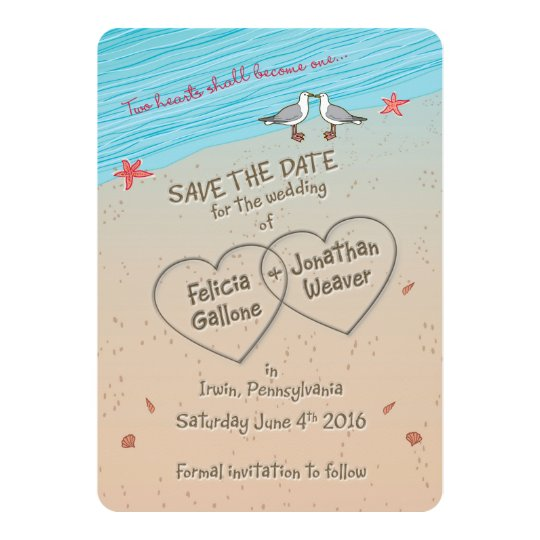 FELICIA Beach Save the Date Invitation