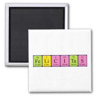 Felicitas periodic table name magnet