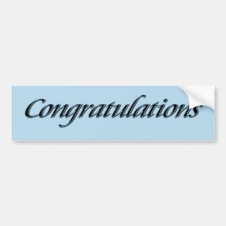 Félicitations Autocollant De Voiture