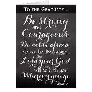 Félicitations chrétiennes d'obtention du diplôme carte de vœux