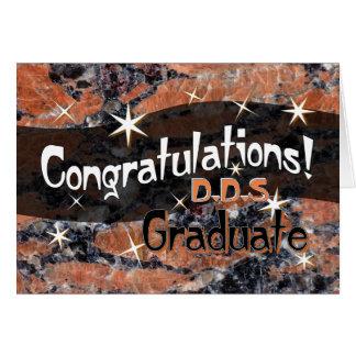 Félicitations D.D.S. Graduate Orange et noir Carte De Vœux