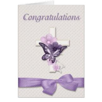 Félicitations de baptême carte de correspondance