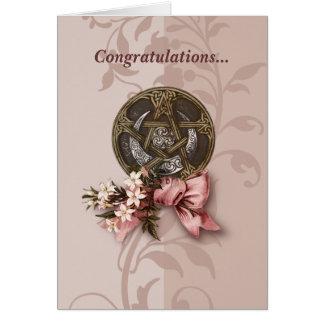 Félicitations de Handfasting Carte De Vœux